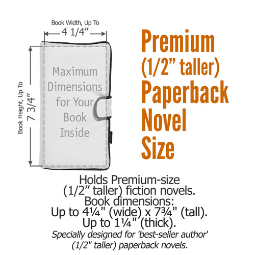 Book Cover Size : Premium taller paperback novel book cover size